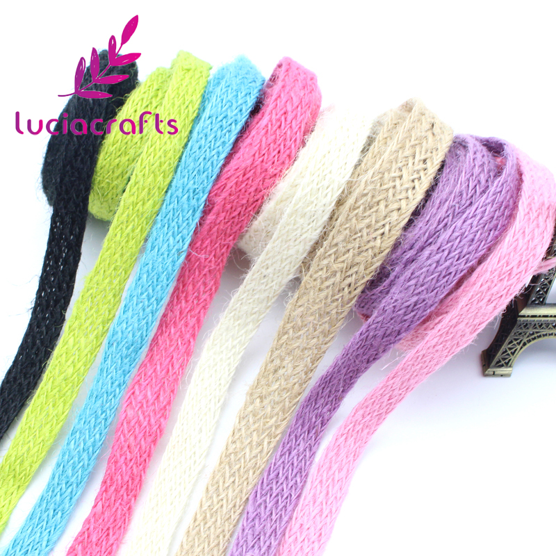 10mm Multi colors option Woven Hemp Rope Tape DIY Accessories 047005033
