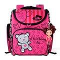 Delune Children School Bags for Girls Cute Bear Orthopedic Backpacks Primary Bookbag Mochila Escolar School Portfolio Backpacks