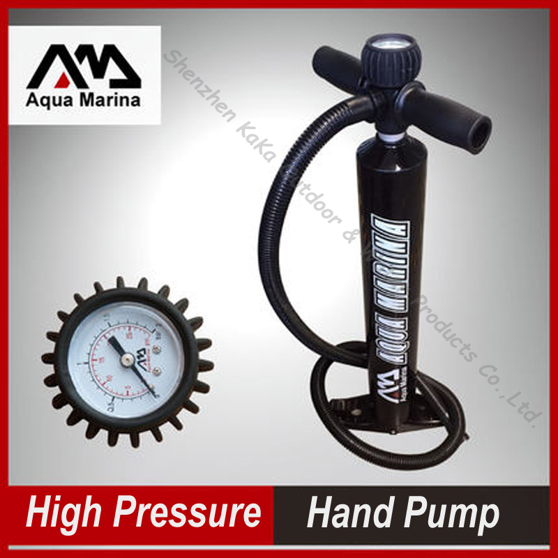 AQUA MARINA high pressure inflation air pump hand pump B0302210 for SUP stand up paddle board PVC inflatable <font><b>fishing</b></font> boat kayak