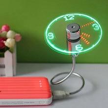 New Durable Adjustable USB Gadget Mini Flexible LED Light USB Fan Time Clock Desktop Clock Time Display