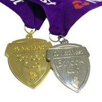 Пользовательские с вашим логотипом в пользовательские Форма 63,5 мм Диаметр спорта медаль