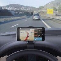 סימולציה עיצוב HUD מחזיק אוניברסלי לרכב סטנד קליפ עבור iPhone X 8 7 6 s פלוס סמסונג S7 Huawei קצה P9 מחזיק טלפון סלולרי GPS