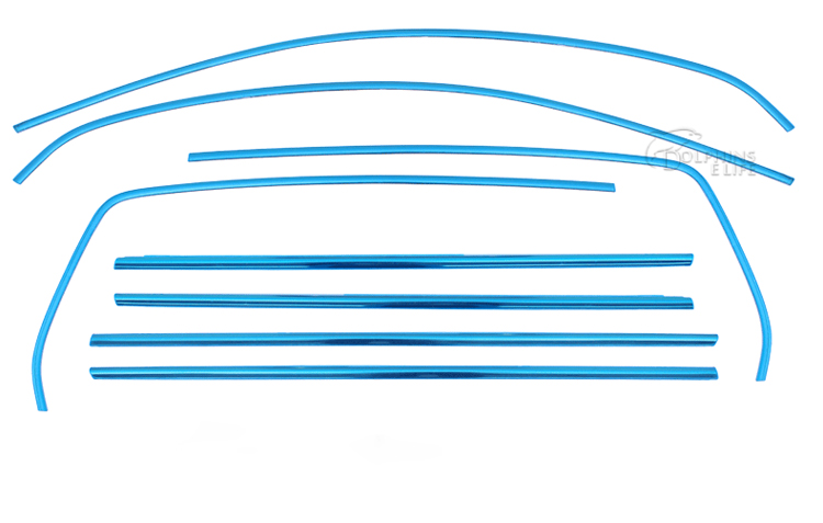 For VW Volkswagen Golf Plus 6 2010 2011 2012 2013 Stainless Steel Full Window Trim Decoration Strips Door Auto Cover Car Styling for volkswagen vw new sagitar 2012 2013 2014 jetta 6 rear trunk switch cover decoration cover sticker stainless steel 1pc