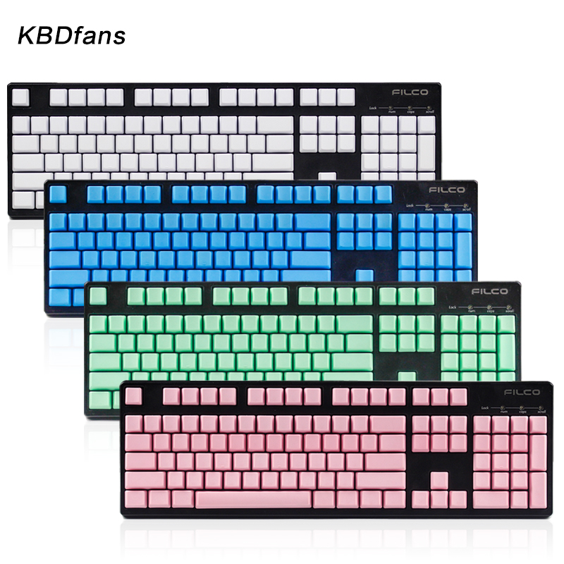 все цены на Free shipping blank printed 104 keys Mixed Color OEM Profile Thick pbt keycaps for wried usb mechaniacal gaming keyboard keycap онлайн