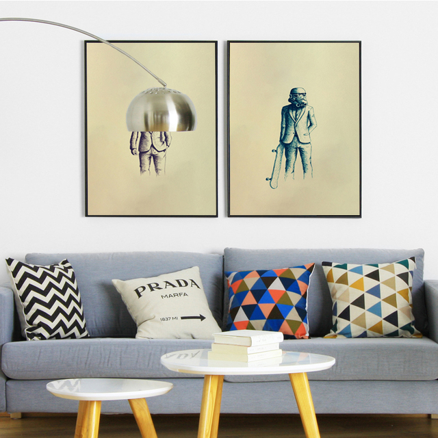 Star Wars Movie Fashion Show Simple A4 Canvas Painting Art Print Poster Picture Wall Paintings Children Bedroom Home Decoration