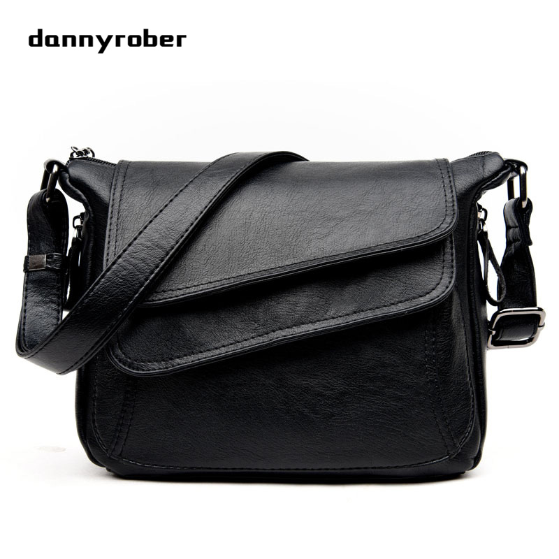 2018 High Quality PU Leather Women Messenger Crossbody Bags Single Shoulder Bag For Ladies Girls Fashion Female Briefcase Black 2017 new arrival women envelope shoulder bag high quality pu leather messenger bags fashion style women bag yellow st9340