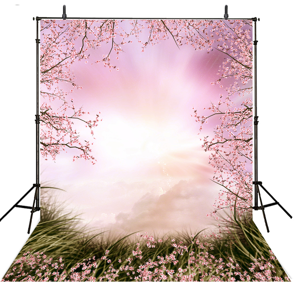 Scenic Photography Backdrops Vinyl Backdrop For Photography Girls Fondali Fotografici Spring Background For Photo Studio
