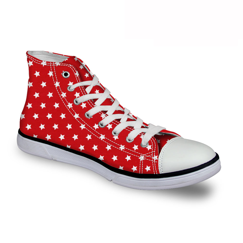 Noisydesigns Womens Sneakers Women high top canvas shoes Red Shoes Women Shose Casual flat bottom Red bottoms Designer Sneaker