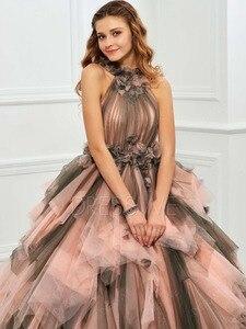 Image 5 - 빈티지 핑크와 블랙 두 톤 1950 s 컬러 웨딩 드레스와 컬러 프릴 tulle 볼 가운 고딕 웨딩 드레스