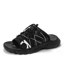 New Lovers Nylon Sandals Men's Casual Leisure sneakers Outdoor Beach Shoe Buckle Native Male Summer Slippers Sandals Size 35-44 summer leisure slippers for lovers