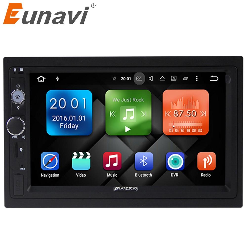 Eunavi 4 core 7'' 2G RAM Android 6.0 Universal Car Audio Stereo GPS Navigation Double 2 Din 1024*600 HD Car Radio Player DAB+ joying 7 double 2 din android 6 0 universal car radio quad core 1024 600 hd car gps navigation best head unit car pc