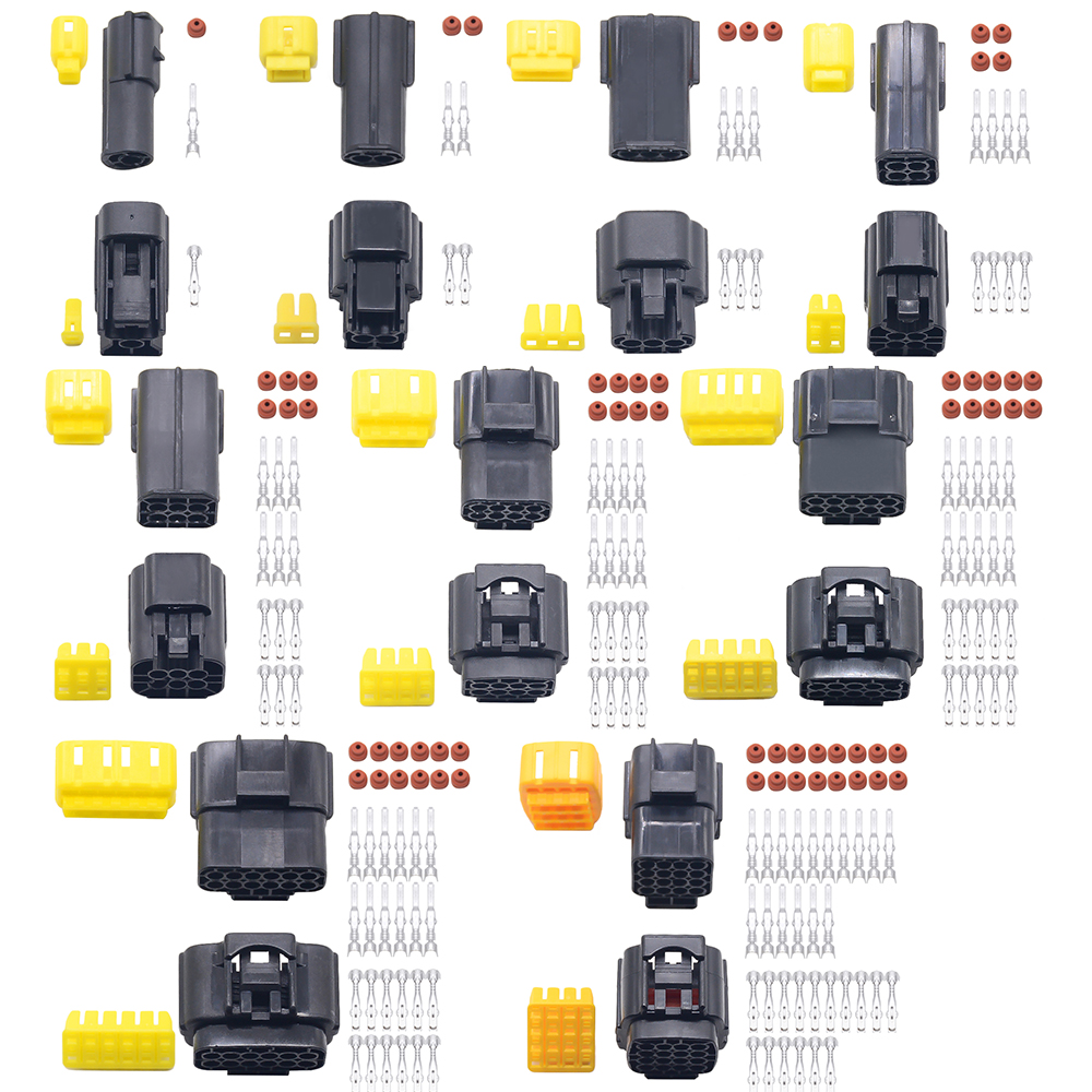<font><b>1</b></font> sets <font><b>2</b></font>/3/4/6/8/<font><b>10</b></font> Pin Way Waterproof Wire Connector Plug Car Auto Sealed Electrical Set Car Truck connect image