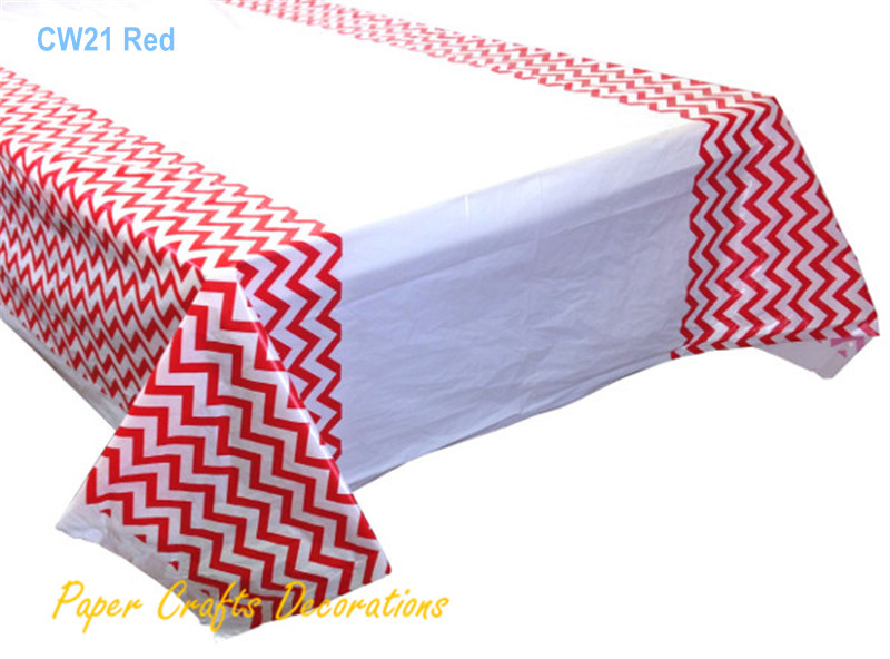 108 180cm Blue Chevron Plastic Tablecloths Table Cover Baby Shower Kids Party Decorations In Disposable Tableware From Home Garden On Aliexpress