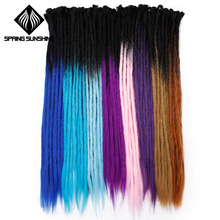 Spring sunshine Handmade Dreadlocks Hair Extensions 1 Strands 24 inch Ombre Croc
