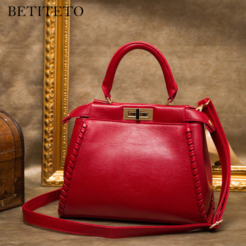 Betiteto Brand Genuine Leather Women Messenger Bags Female Designer Shoulder Sling Handbags Shopper Tote Bag Sac A Main Femme цена