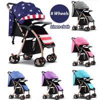Детские коляски для новорожденных путешествия Системы складной Портативный Детские коляски может сидеть может лежать