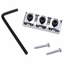 42mm Chrome Iron String Double Locking Nut Allen Wrench Screws Repair Musical Tool For Floyd Tremolo Electric Guitar Bass Parts