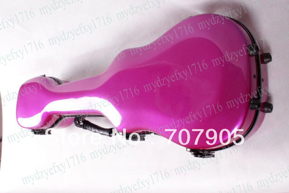 One High quality Ukulele Case 26 Water Proof Glass fiber case Dropshipping Wholesale Pink