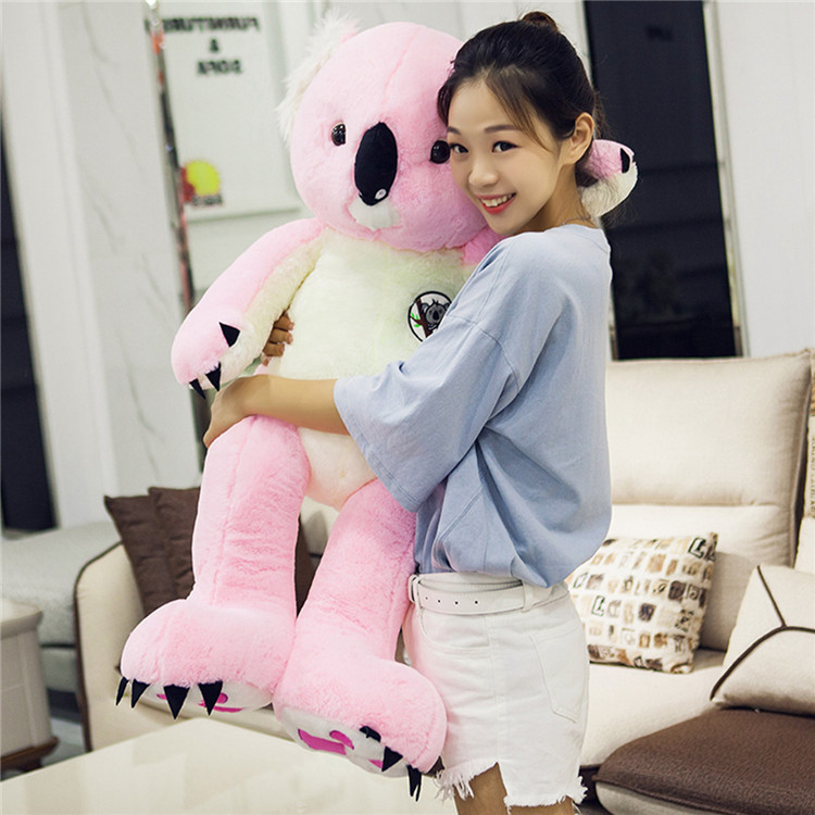 stuffed  toy large 90cm lovely pink koala plush toy soft doll throw pillow Christmas gift w0724stuffed  toy large 90cm lovely pink koala plush toy soft doll throw pillow Christmas gift w0724