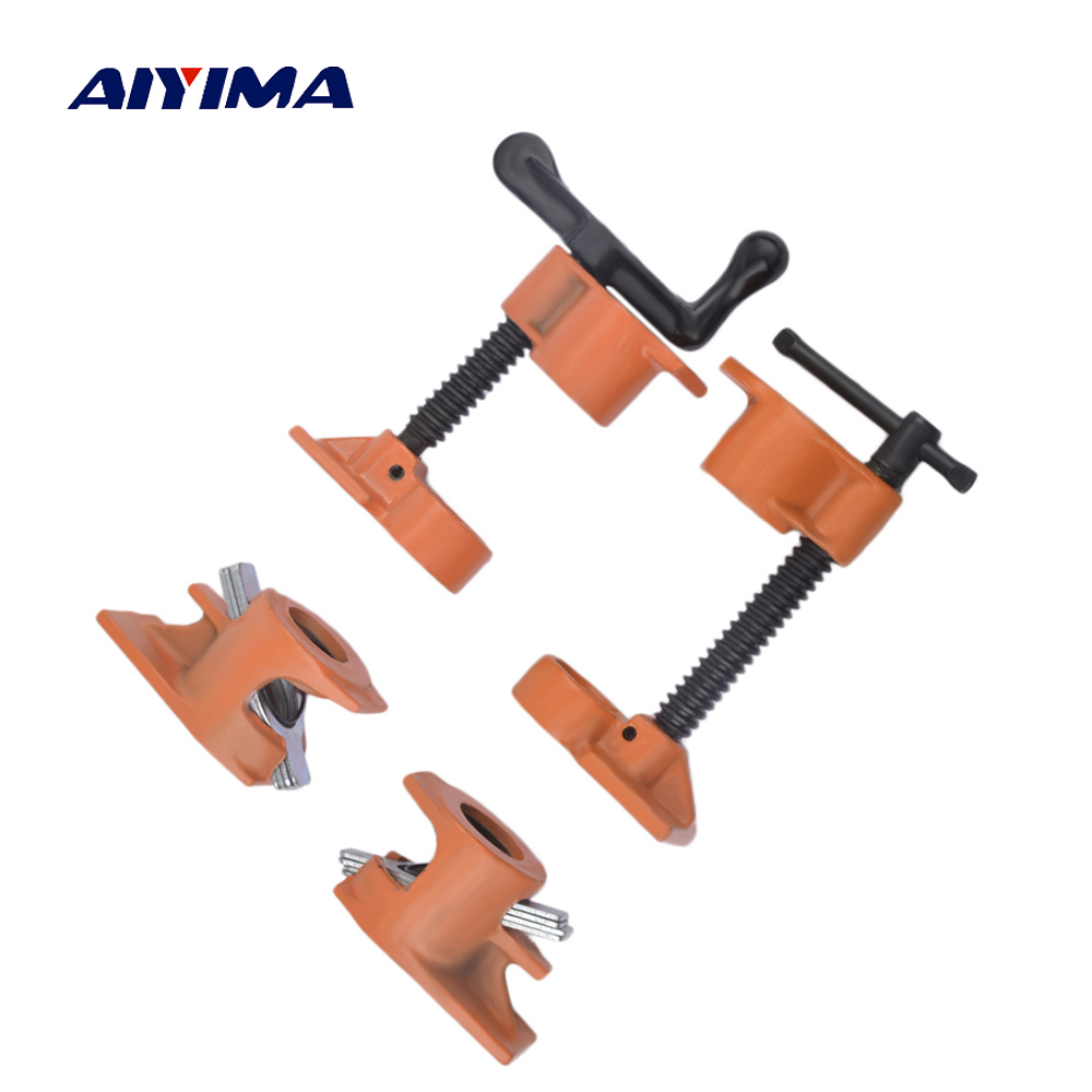 цена на 3/4 Inch Pipe Clamp Grampo Marceneiro Wooden clamps For Woodworking Carpenter Tools Fixture Rapid Clamping Clip Set Locks Jaws