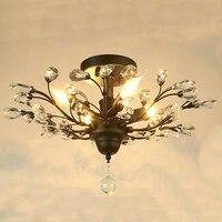 Современный блеск ясно Стекло светодиодные светильники потолочные черный хрустальные светильники гладить потолочный светильник для Гост