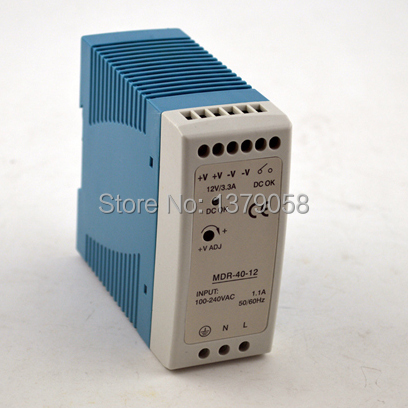 CE approved MINI Din Rail Single Output Switching power supply 5v MDR-40-5 40W 24v 1 7a 40w ce approved mini din rail single output switching power supply mdr 40 24