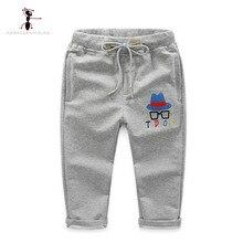2017 Algodón de Los Niños de Cintura Elástica de Cuerpo Entero Negro Sólido Gris Kids Leggings Niños Pantalones Roupas Infantis Menino 2613