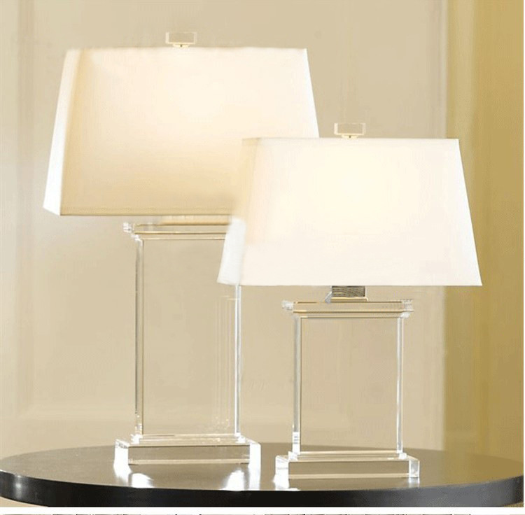 TUDA 36X56cm Free Shipping Contemporary Minimalist Style LED Table Lamps Luxury K9 Crystal Table Lamp Living Room Study Lamp E27