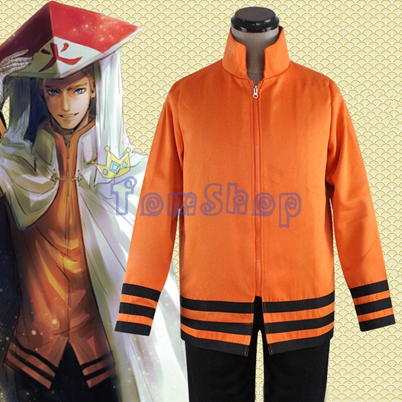 Anime Naruto Uzumaki 7th Hokage Cosplay Jacket Coat Zipper Sweatshirts Costumes