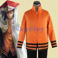 Anime Naruto Uzumaki. Hokage Cosplay Jackenmantel Reißverschluss Sweatshirts Kostüme