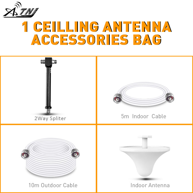 1 More Ceilling Antenna Accessories Bag Work With ATNJ Mobile Signal Booster