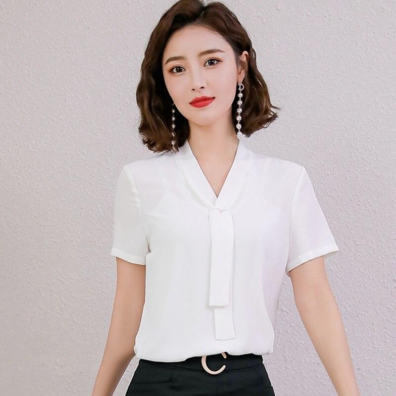 Haut pour femme été 2019 coréen tenue de bureau dames Blouses Business Ol coréen mode femme vêtements 2019 femmes chemises DD2078
