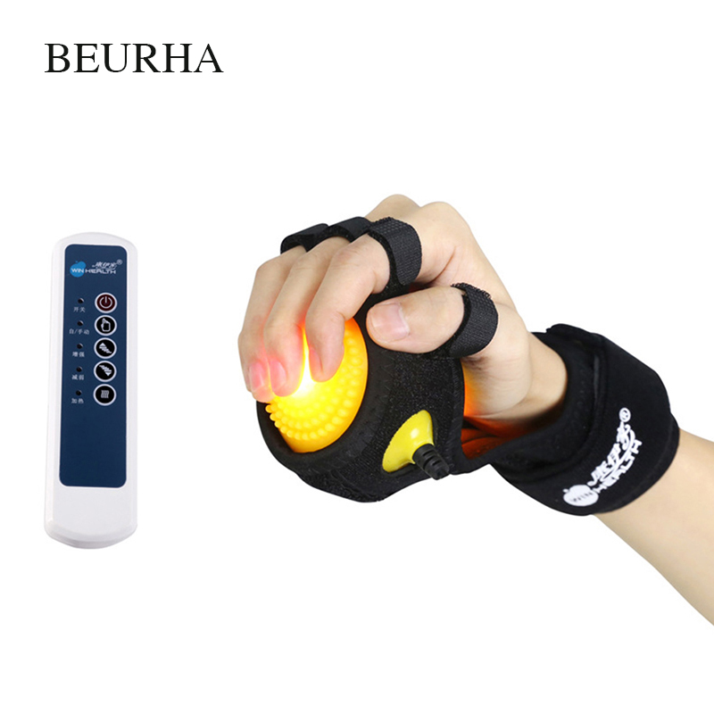 Infrared Heating Compress Finger Hand Massage Ball Physiotherapy for Finger Apoplexy Hemiplegia Spasm Dystonia Hemiplegia Stroke spiky massage ball fitness balls sense to strengthen mini peanut massage ball soft for back foot hand training ball blue red