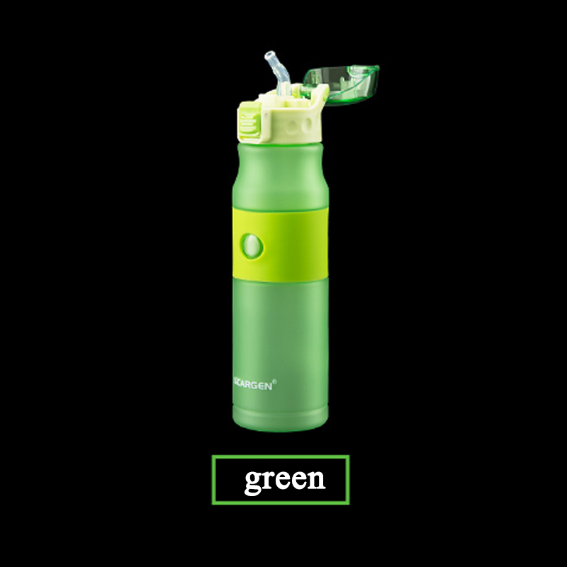 Image 5 - 600ml Plastic Water Bottle sport bottle whit straw bottle cap with switch Travel kettle flask bottle for sport running cycling-in Sports Bottles from Sports & Entertainment