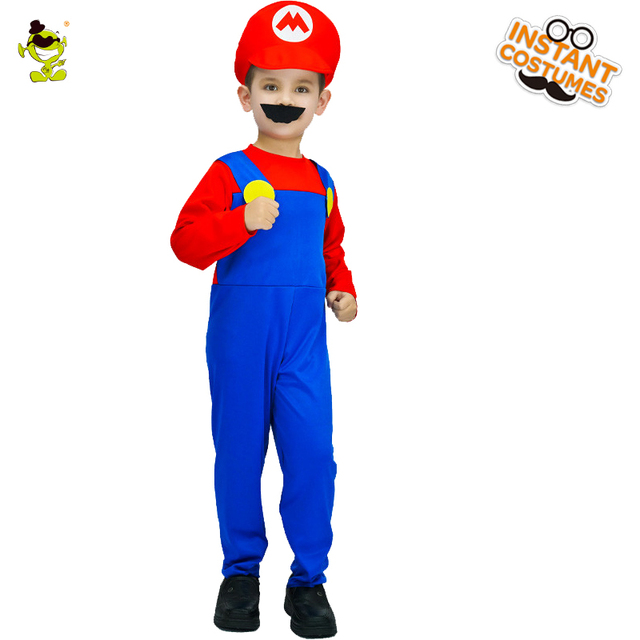 Little Kids Super Mario Costumes Cosplay Halloween Carnival Party Super Mary Plumber Role Play Outfits  sc 1 st  AliExpress.com & Little Kids Super Mario Costumes Cosplay Halloween Carnival Party ...