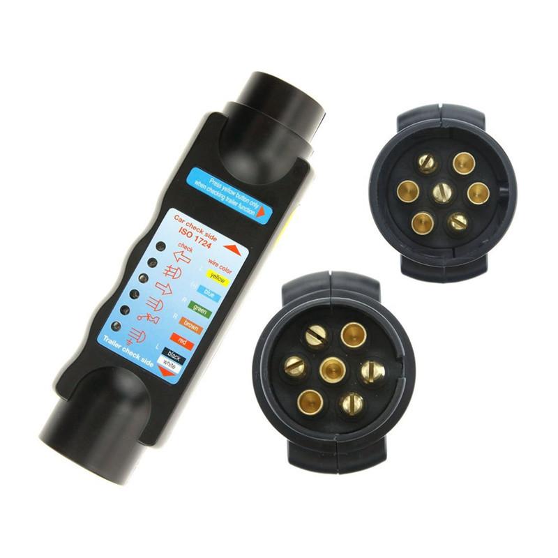7 Pin Vehicle Car Towing Trailer Light Car Trailer Cable Wiring Circuit Plug Socket Tester Car Tester Adapter