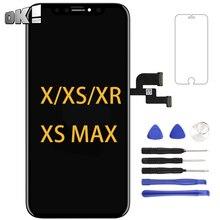 OEM negro Panel OLED para iPhone X XS X pantalla LCD de montaje de digitalizador con pantalla táctil Teléfono. Parte de reemplazo para iPhone XS Max XR pantalla LCD