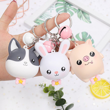 Cartoon tape measure Keychain Anime Cute Childrens Gifts Creative mini bell keychain 2019 new hot sale