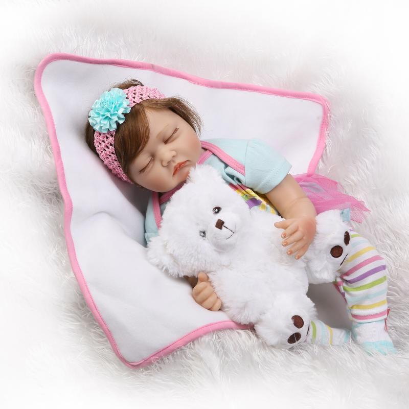 NPK Silicone Reborn Realista Boneca Bambole Del Bambino Del Bambino di Modo Per I Bambini Regalo Di Compleanno Bebes Reborn Bambole Per Bambini Giocattoli-in Bambole da Giocattoli e hobby su  Gruppo 3