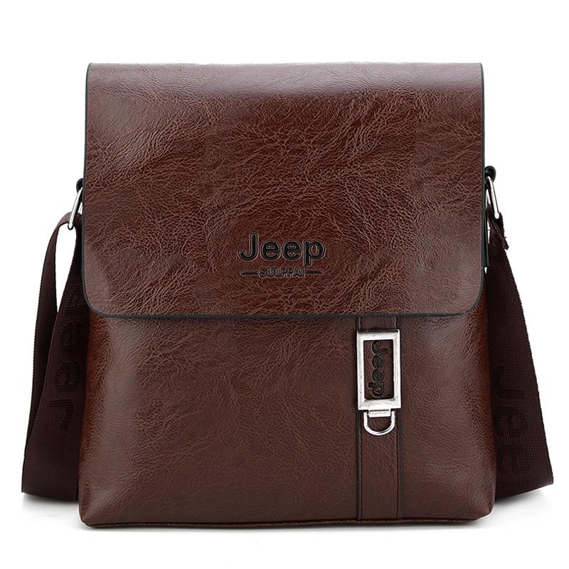 Jeep Sulppai Men Bags Crossbody Shoulder Bag Leather Business Messenger Bag  for Work Travel Office KSL701 4c2134de33c65