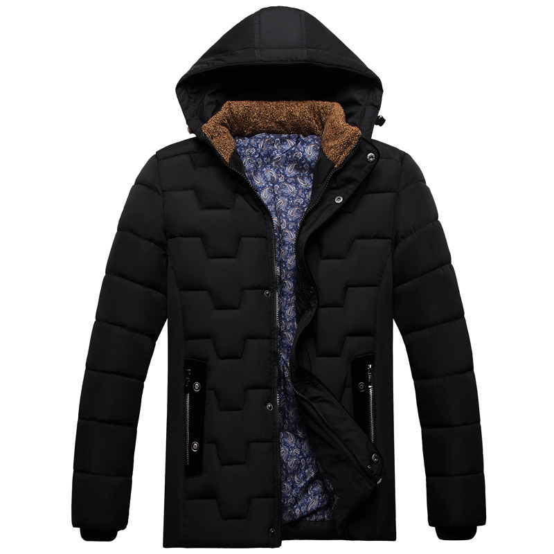 ФОТО Men's Jacket 2016 Newest Elderly men Parkas Winter Jacket Men Stand Collar Fashion Brand Clothing Padded For Men Overcoat