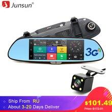 Junsun 7 inch 3G Car GPS Navigation Rearview Mirror Dual Lens Bluetooth Video Recorder Registrar FHD 1080P Gps Navigator
