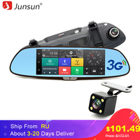 Car DVR Camera Mirror Android GPS Navigation Full HD 1080p Rearview Mirror With Two Cameras Vehicle