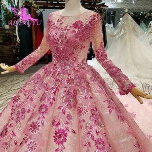 Image 4 - AIJINGYU hint düğün elbisesi dantel Vintage önlük ceket Bridals yeni parlak lüks beyaz top cüppeli elbiseler