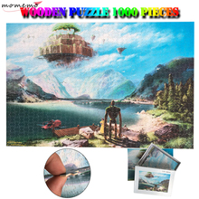 MOMEMO Laputa:Castle In The Sky Wooden Puzzles 1000 Pieces Hayao Miyazaki Anime Jigsaw Adults Puzzle Games