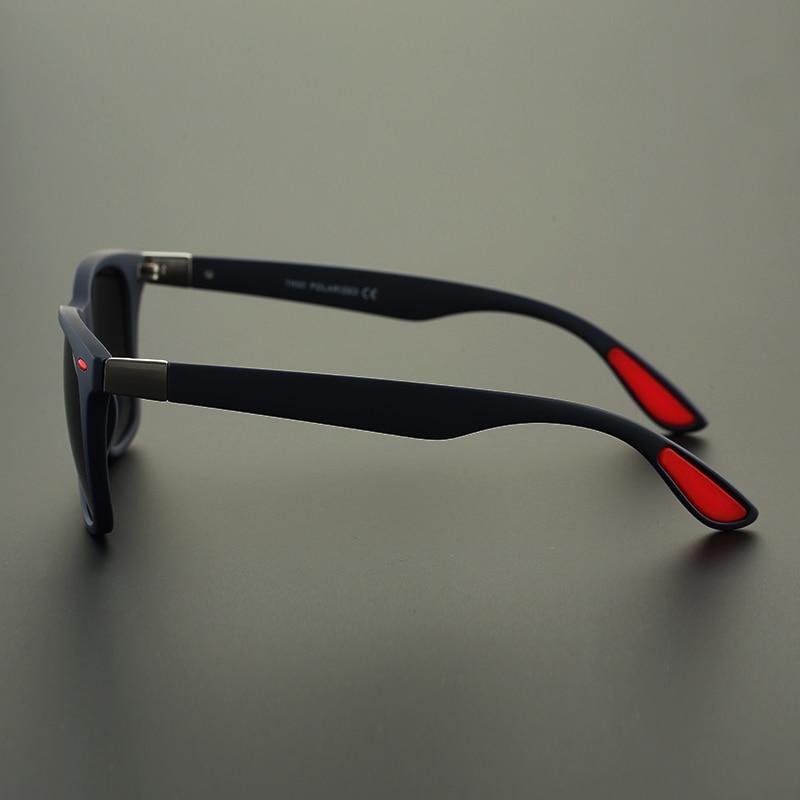 Square Polarized Photochromic Sunglasses For Men UV400 Driving Sun Glasses Male