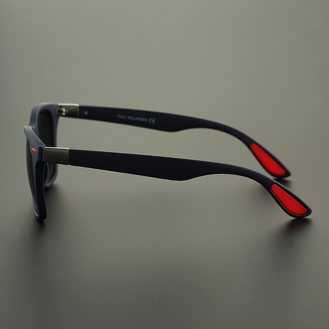 Men's Classic Square Frame Polarized Sunglasses