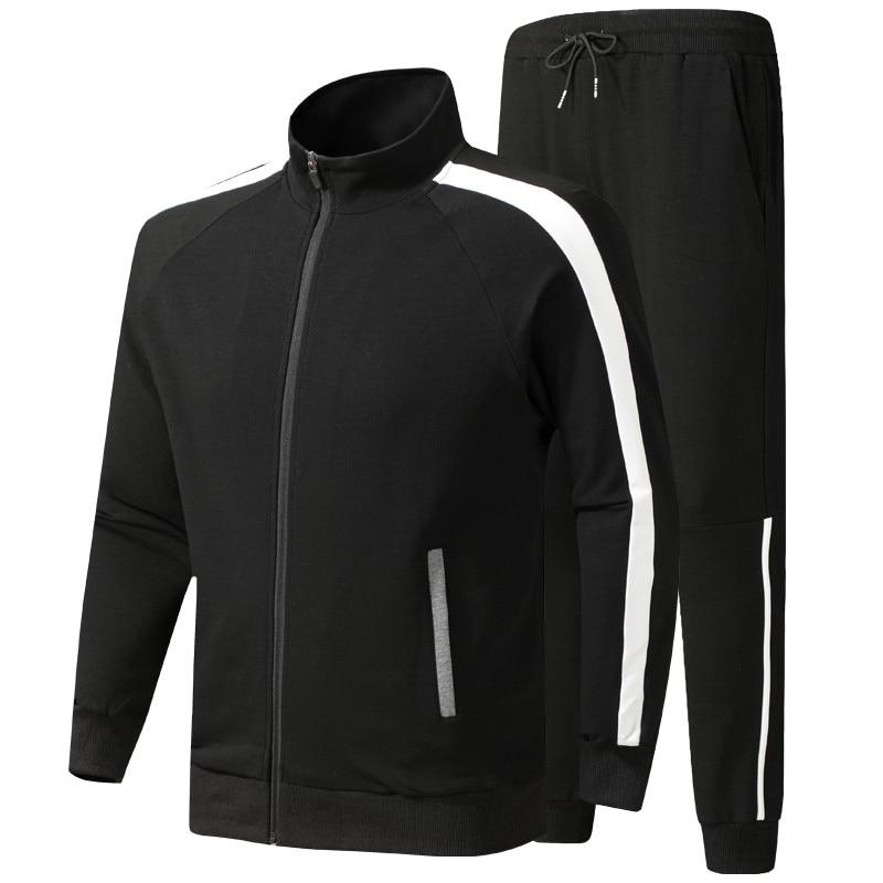Men Sports Suit Spring Autumn Male Casual Tracksuit Jacket + Pants Young Men Fashion Sportswear Clothing Asian Size L-6XL