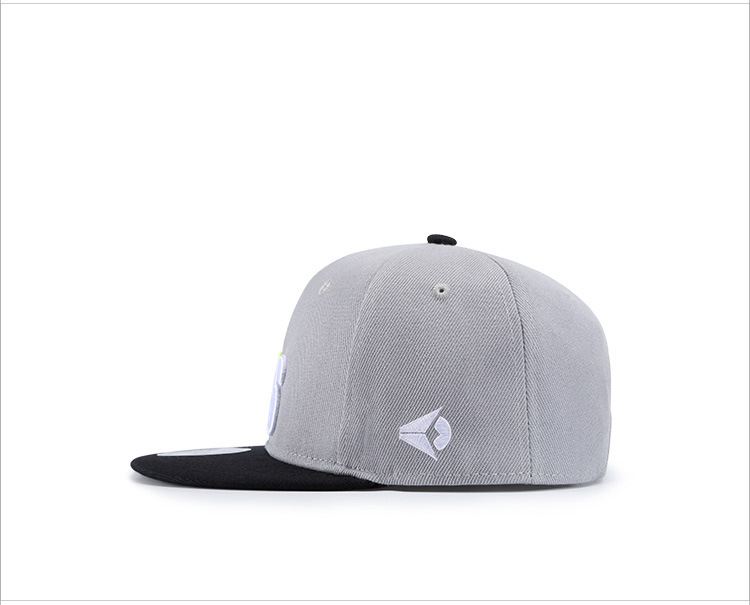 Hip Hop Cap Men Number 76 Embroidered Flat Hat Gray Color Gorra-in ... c5e888077b4a