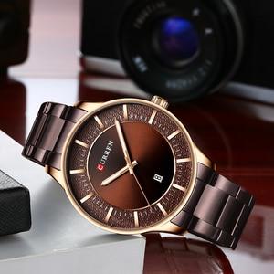 Image 3 - Reloj de pulsera de cuarzo para hombre, reloj de pulsera de acero inoxidable para hombre, reloj de pulsera de cuarzo con fecha, regalo de negocios Casual